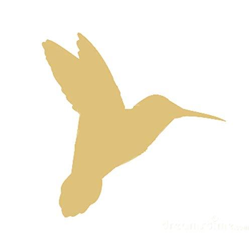 Hummingbird Cutout Unfinished Wood Garden Bird Hover Flying Flight MDF Shape Canvas Style 1