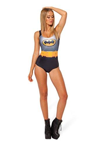 One Piece Women Bikini Swimwear Batman Cloth Pattern Swimsuit