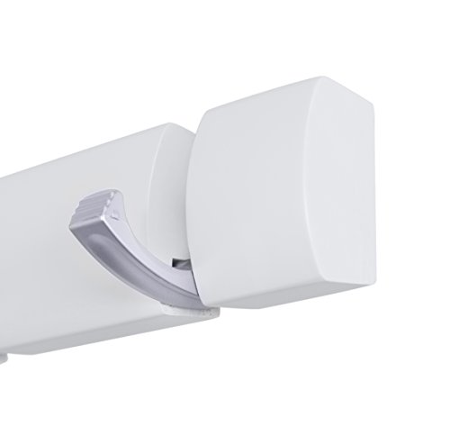 Wall Mounted Flip Hooks | 6 Folding Coat and Hat Rack Hooks | Satin Nickel Hooks | White Rail Photo #5