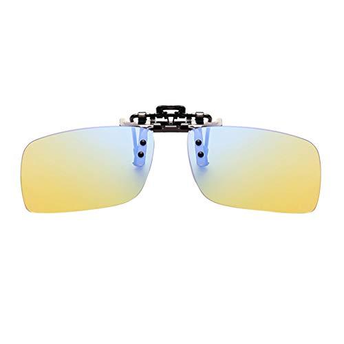 Ikevan_ Polarized Lens Clip-on Sunglasses Anti-Glare Driving Glasses Prescription Glasses UV Protection Over RX Eyeglasses For Unisex Women Men (S)