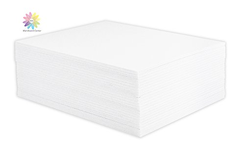 Mat Board Center, Pack of 25 8x10 1/8 White Foam Core Backing Boards by MBC MAT BOARD CENTER