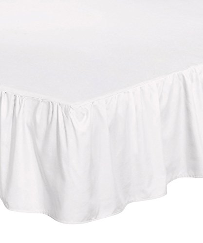 (Utopia Bedding Bed Ruffle Skirt (Full - White) - Brushed Microfiber Bed Wrap with Platform - Easy Fit - Gathered Style - 3 Sided Coverage)
