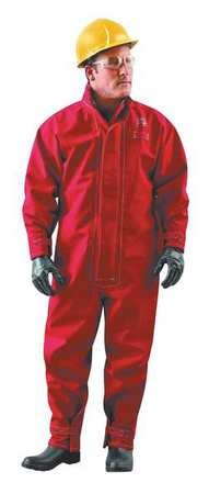 Chemical Resistant Coverall, Red, GORE(R) Membrane, M
