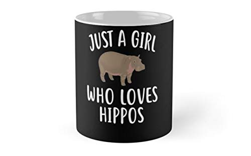 Just A Girl who loves HIPPOS T-Shirt Funny HIPPO Tee Mug(One Size)