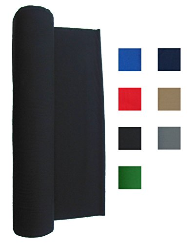 Performance Grade Pool - Billiard Cloth - Felt For An 8 Foot Table Choose English Green, Burgundy, Blue, Navy Blue, Red, Black, Light Gray or Tan (Black)