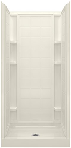 Alcove Shower Kit (Sterling 72100100-96 Ensemble 36 Series 7210 Tile Alcove Shower, 36-Inch x 34-Inch x 75-3/4-Inch, Biscuit)