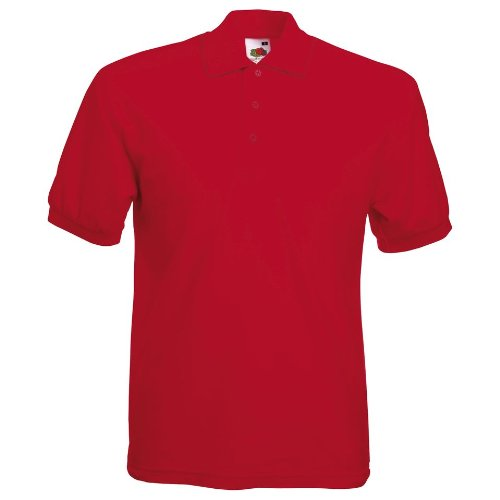 Fruit Of The Loom Premium Polo S,Red
