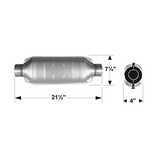 Flowmaster 2600230 260 Series 3'' Inlet/Outlet Universal Catalytic Converter by Flowmaster (Image #1)