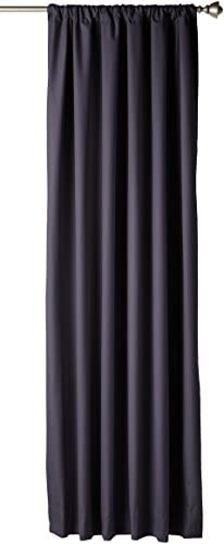 AmazonBasics Blackout Curtain Set – 52 x 84 – Black, 4-Pack