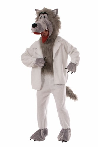 [Forum Novelties Men's Wolf In Sheep's Clothing Plush Mascot Costume, Multi Colored, One Size] (Wolf Halloween Costumes)