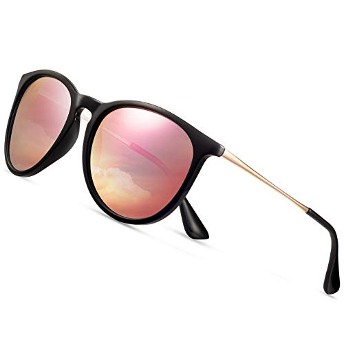Sunglasses for Women Men Polarized uv Protection Wearpro Fashion Vintage Round Classic Retro Aviator Mirrored Sun ()