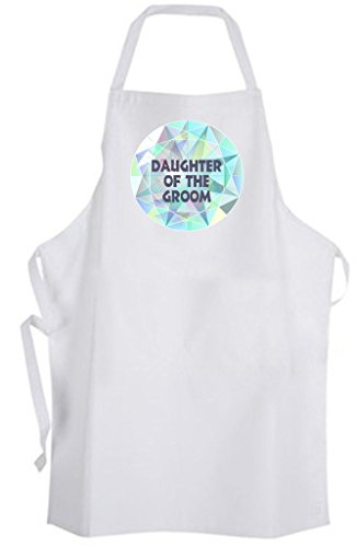 Daughter of the Groom Diamond – Adult Size Apron – Wedding Marriage Family by Aprons365