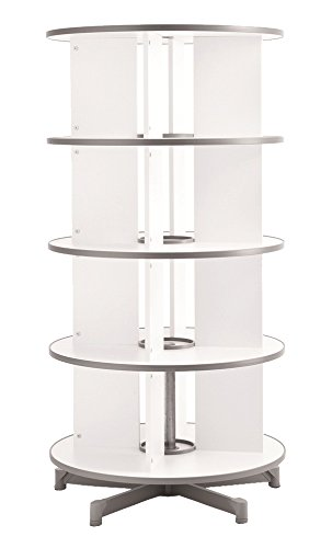 Moll One Turn Binder & File Carousel Shelving with Four Tier, White (TURN4)