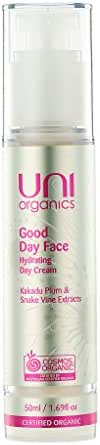 Certified Organic Anti-Aging Moisturizer Face Cream - Reduces Wrinkles & Fine Lines with Kakadu Plum & Snake Vine Extract. Vegan Friendly 1.7 Fl. Oz by Uni Organics