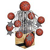Pack of 6 Sports Fanatic Basketball Mini Cascade Foil Tabletop Centerpiece Party Decorations 8.5