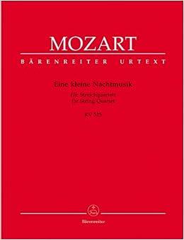 モーツァルト: アイネ・クライネ・ナハトムジーク ト長調 KV 525/ベーレンライター社/演奏用パート譜セット