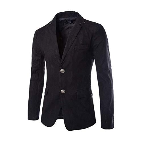 Moderne Slim Veste Vestes Knop Casual Costume Fit Basique 2 Blazer Hommes Manches À Loisirs D'affaires Schwarz Longues Automne AxCwqtIWXf