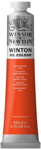 - Winsor & Newton Winton Oil Colour Paint, 200ml tube, Cadmium Red Light