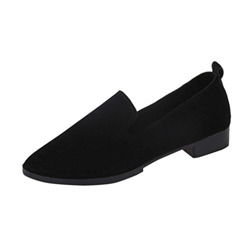 HOT Sale ,AIMTOPPY Women Pointed Toe Ladise Shoes Casual Low Heel Flat Shoes (US:8, Silver) Black