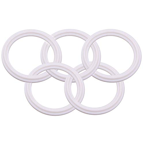 (Dernord PTFE (Teflon) Tri-Clamp Gasket O-ring - 2.5 Inch Style Fits OD 77.5MM Sanitary Pipe Weld Ferrule (Pack of 5))