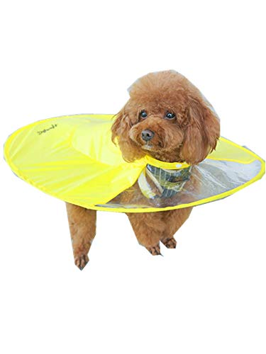Clearance SFE 2018 Pet Waterproof Umbrella Dog Cat Raincoat Puppy Cloak Outdoor Poncho (XL, Yellow) -