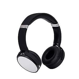 Tchin Auriculares inalámbricos con Bluetooth Dual Ear Estéreo Ligero 4.2 Auriculares para computadora Mini Auriculares Bluetooth Plegables (Color : La Plata)