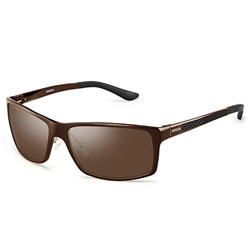 de Brown Lens hombre Gafas para Brown sol Soxick 1 Frame q5gXZn