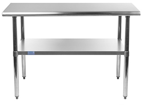 AmGood Stainless Steel Work Table with Undershelf | Food Prep NSF | Utility Work Station | All Sizes (36'' Length X 30'' Width) by AmGood