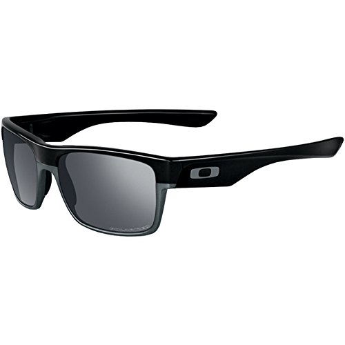 Oakley Men's Twoface (a) 0OO9256 Polarized Iridium Rectangular Sunglasses, POLISHED BLACK, 60.01 - Oakley Face Two