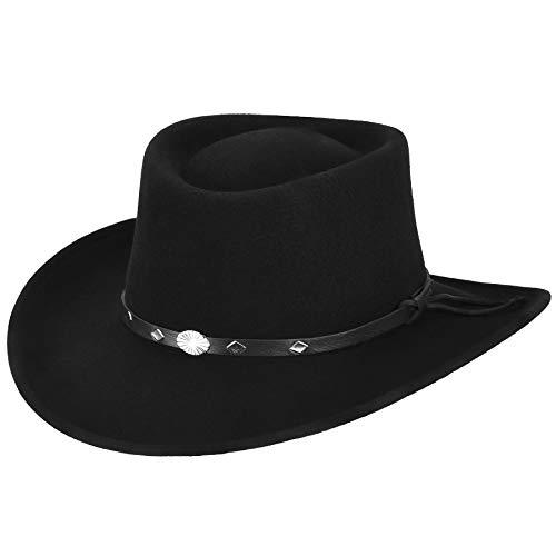 Hats Hats.Com Men Ace of Spades Gambler Exclusive Black L