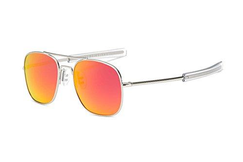 de de de Aviator retra hombres Rojo Gafas mujeres las polarizadas los de la y protección vendimia la sol UV de Plata Gafas qTFdwxCII
