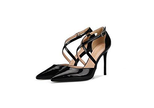 Aguja Verano Club Primavera Mujer Do De Alto Charol Tacón Zapatos CPqfxSw7n