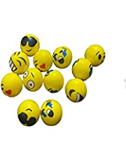 Emoji Pull and Stretch Stress Balls - Pack of 12-2 Inch Assorted Funny Face Squeeze Balls for Stress Relief, Stocking Stuffers, Educational Game, Room Decoration, therapeutic