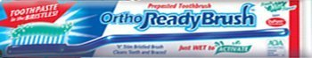 ReadyBrush Prepasted Disposable Ortho Toothbrushes - Mint Flavor - 144/Bx
