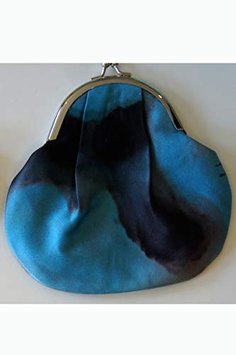 Turquoise Bloomspray Louis Jane Silk Coin Purse by Louis Jane  (''Where Nature Meets Art''TM)