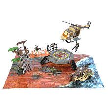 True Heroes Mobile Helicopter Base -