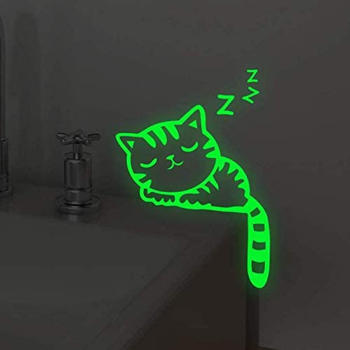 UgyDuky 5 Pack Luminous Light Switch Wall Stickers Removable Glow in Dark Wall Decals Stickers Cat Pet Animal Wall Stickers Light Switch Decor for Kid Children Room