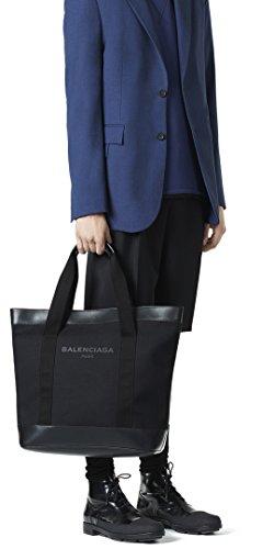 purchase cheap dedb7 573bd Amazon.co.jp: BALENCIAGA NAVY MENS TOTEBAG バレンシアガ ...