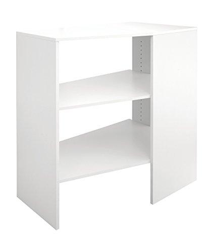 ClosetMaid 4871 SuiteSymphony Corner Unit, Pure White - Corner Closet Shelves