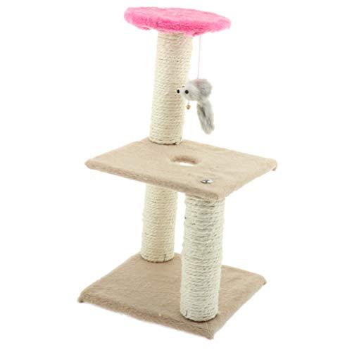 Kesoto Triple-Platform Durable Cat Tree Condo Furniture Kitten Activity Tower Pet Kitty Play House Toys 20x20x40cm