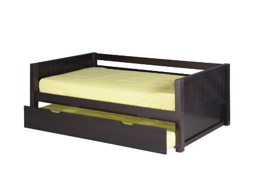 Camaflexi Panel Style Solid Wood Day Bed with Trundle, Twin,