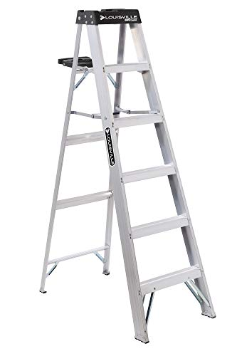 Louisville Ladder AS3006 Aluminum 6-Foot Ladder 300-Pound Duty Rating