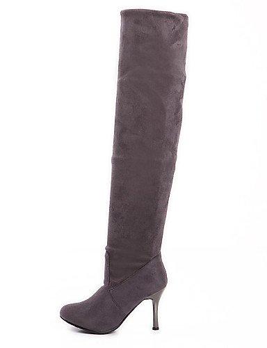 Gris Sintético us10 Stiletto 5 Eu39 5 Mujer Vestido Ante Gray Negro Cn43 Punta Marrón Uk8 us8 Botas Plegado Gray Zapatos Xzz Uk6 Redonda Cn39 Eu42 Tacón De qI6wPa
