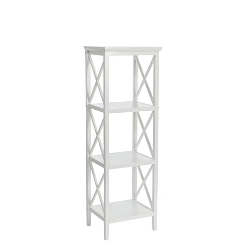RiverRidge Home X-Frame Bathroom Towel Tower - White by RiverRidge Home Products