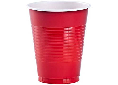 Eros Hosiery Company KIN84062 Red 18oz Plastic Cups by Party Dimensions - Case of 24 by Eros Hosiery