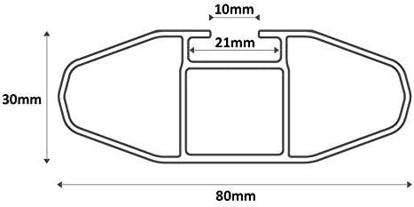 MENABO Alu Dachtr/äger Relingtr/äger Lince kompatibel mit SsangYong Tivoli ab 15 aufliegende Reling