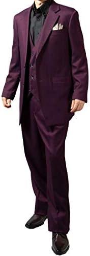 スーツ メンズ スリーピーススーツ 秋冬春 ドレススーツ ラグジュアリスーツ ベスト付き 結婚式 大きいサイズ 119851 1.2.3.4.5