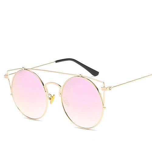 Aoligei Métal de lunettes de soleil fashion européens et américains personnalité réflectorisé ronde frame lunettes de soleil fashion lunettes de soleil 3fJbkM1QwQ