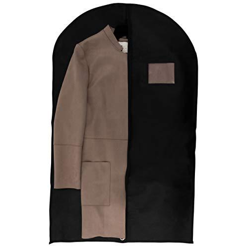 40 Inch Garment Bags Travel Storage Black Non Woven Fabric