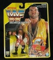 Wwf Razor Ramon (WWF Razor Ramon Aka Scott Hall on Blue Hasbro Card WWE WCW ECW)